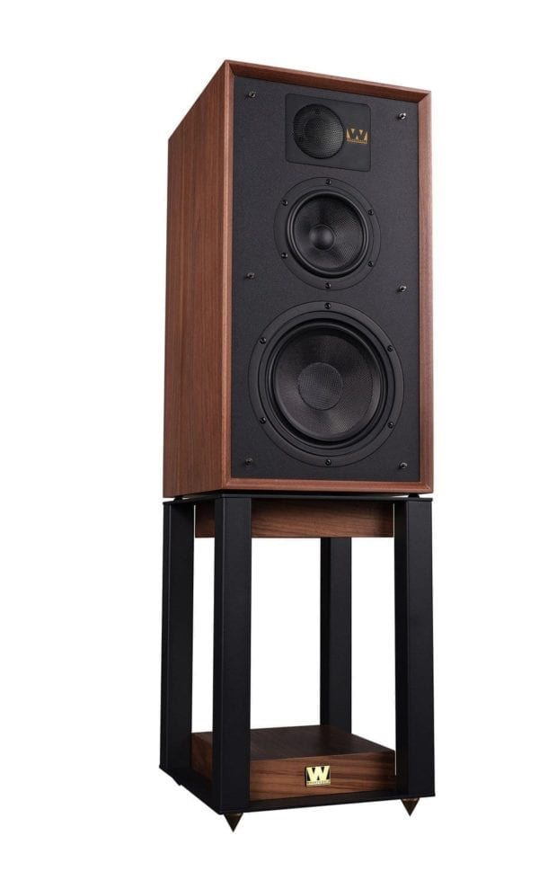 Wharfedale Linton speaker walnut with stand