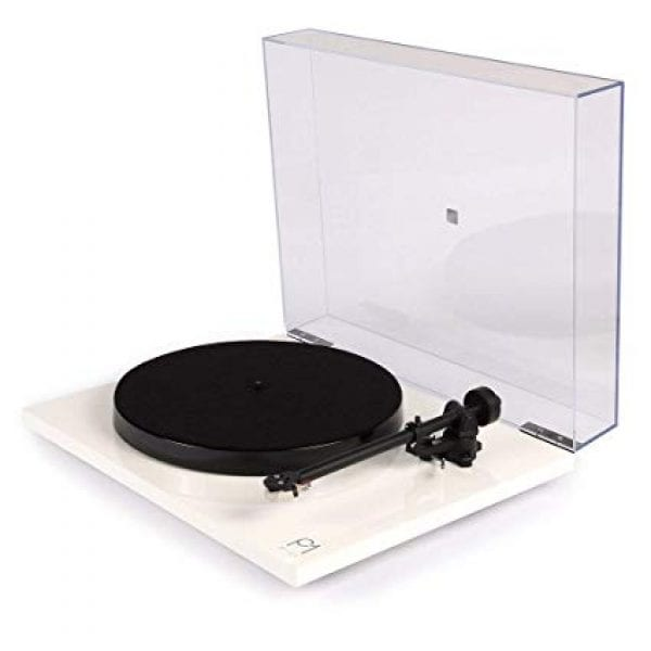 Rega Planar 1 white with dust cover up