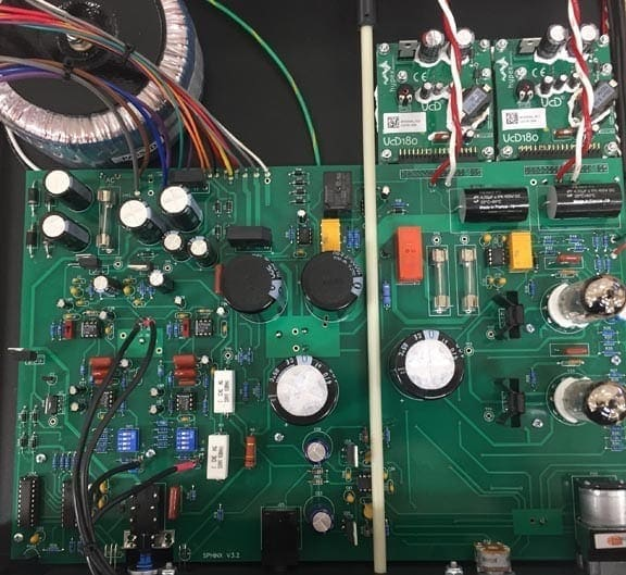 Rogue Audio Sphinx integrated amplifier inside