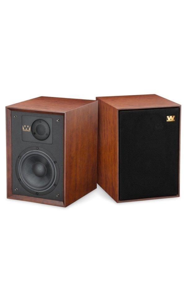 Wharfedale Denton 85th speaker red mahogany pair