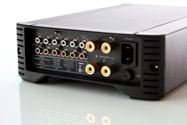 back of Rega Brio amplifier